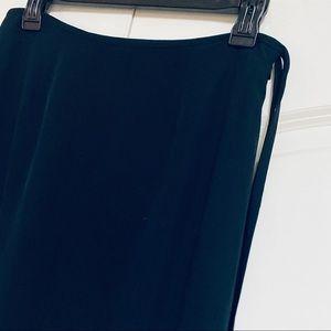 Banana Republic Skirts - Banana Republic Black Silk Maxi Split Hem Skirt 6